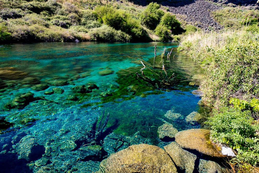 Blue pool springs in Box canyon springs state park idaho
