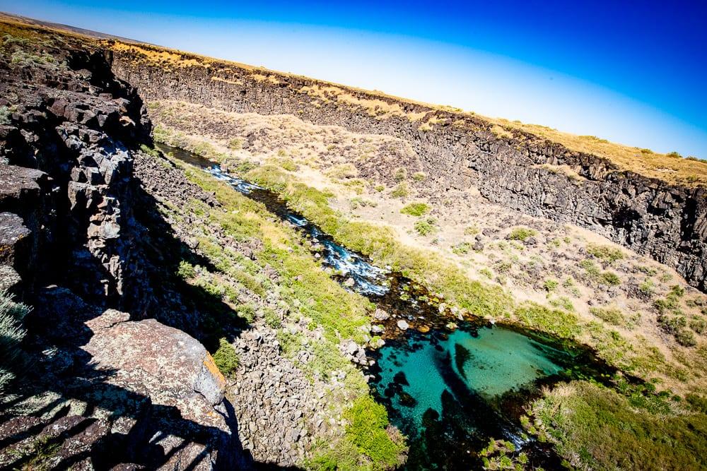 Box Canyon Springs overlook Idaho