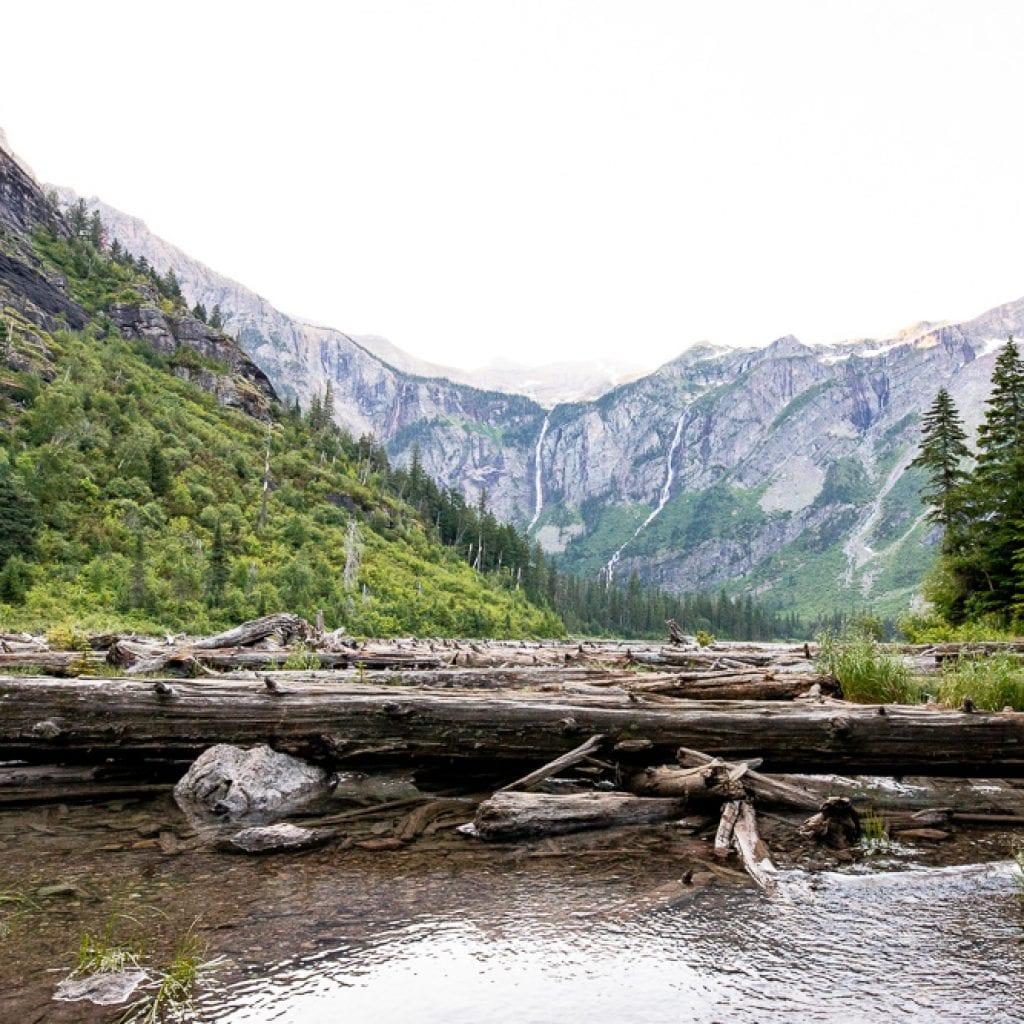 avalanche lake glacier mountain national park