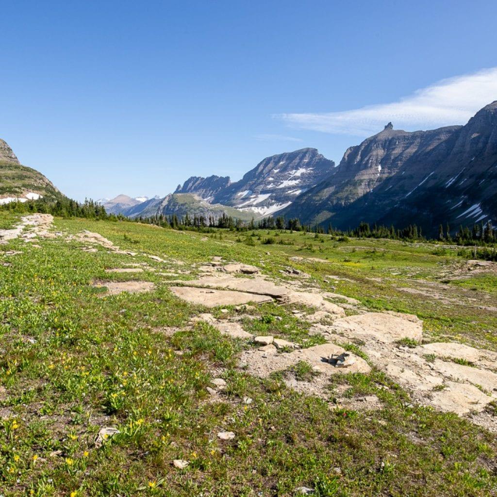 views on hidden lake overlook trail