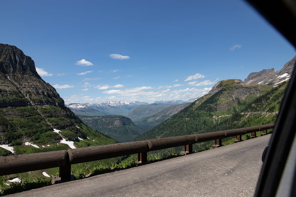 going-to-the-sun road Montana- Visiting Glacier Mountain National Park During the Pandemic