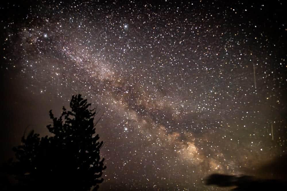 Milky way photo over Glacier Mountain National Park