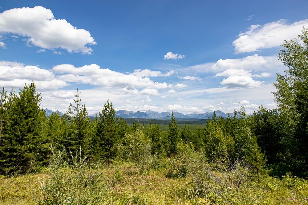 view of North Fork area Glacier National Park