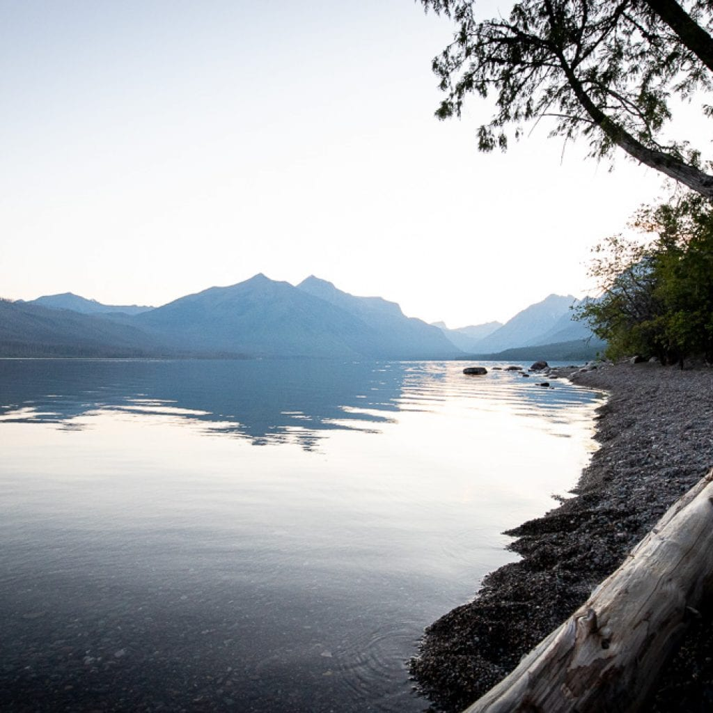 sunrise over lake McDonald montana