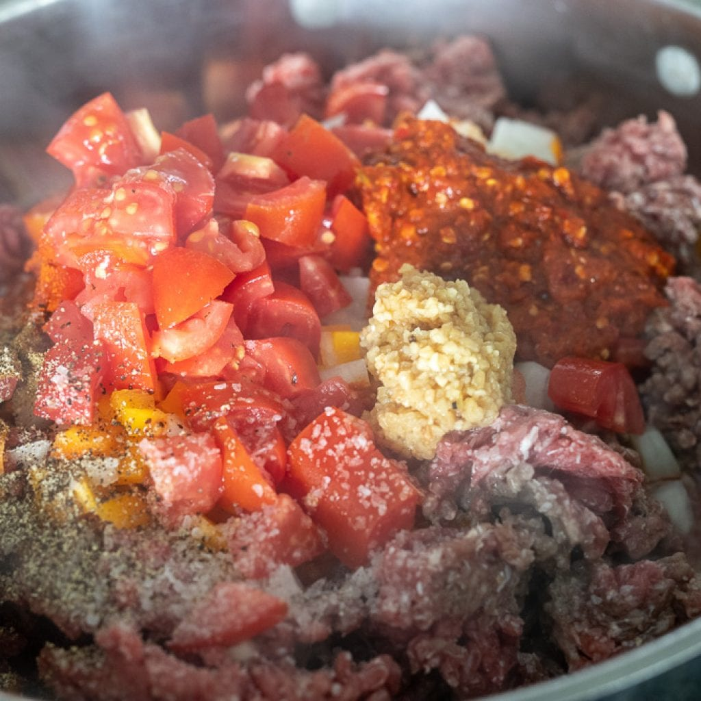 Cooking the best Saucy and Spicy Texas Red Chili