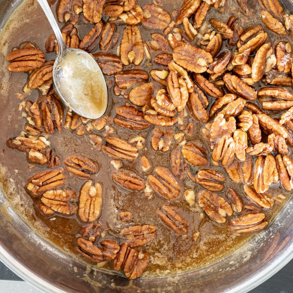 caramel pecan filling for shortbread bars