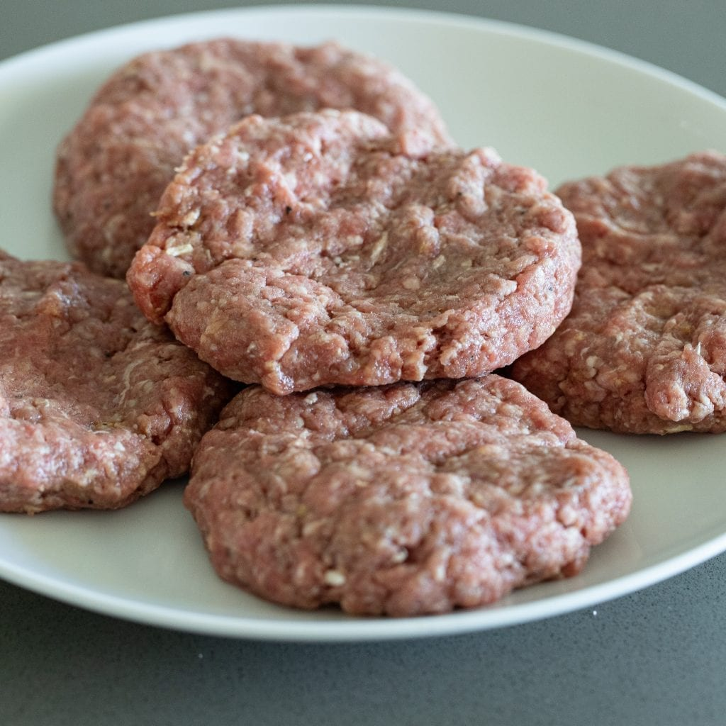 formed hamburger patties