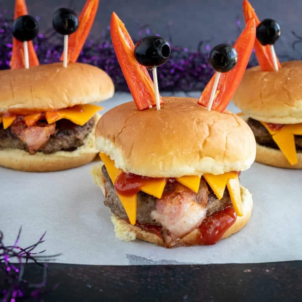 Simple Monster Halloween Burger