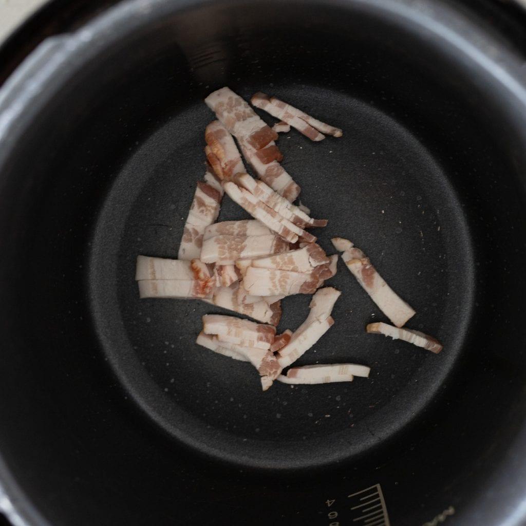 bacon in Cuisinart pressure cooker