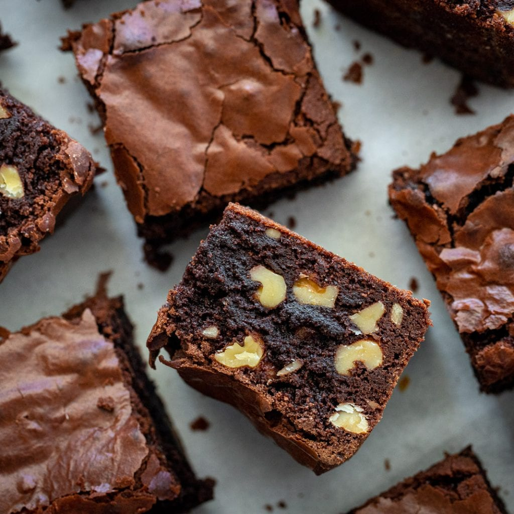 Decadent Fudgy Whole Wheat Brownies