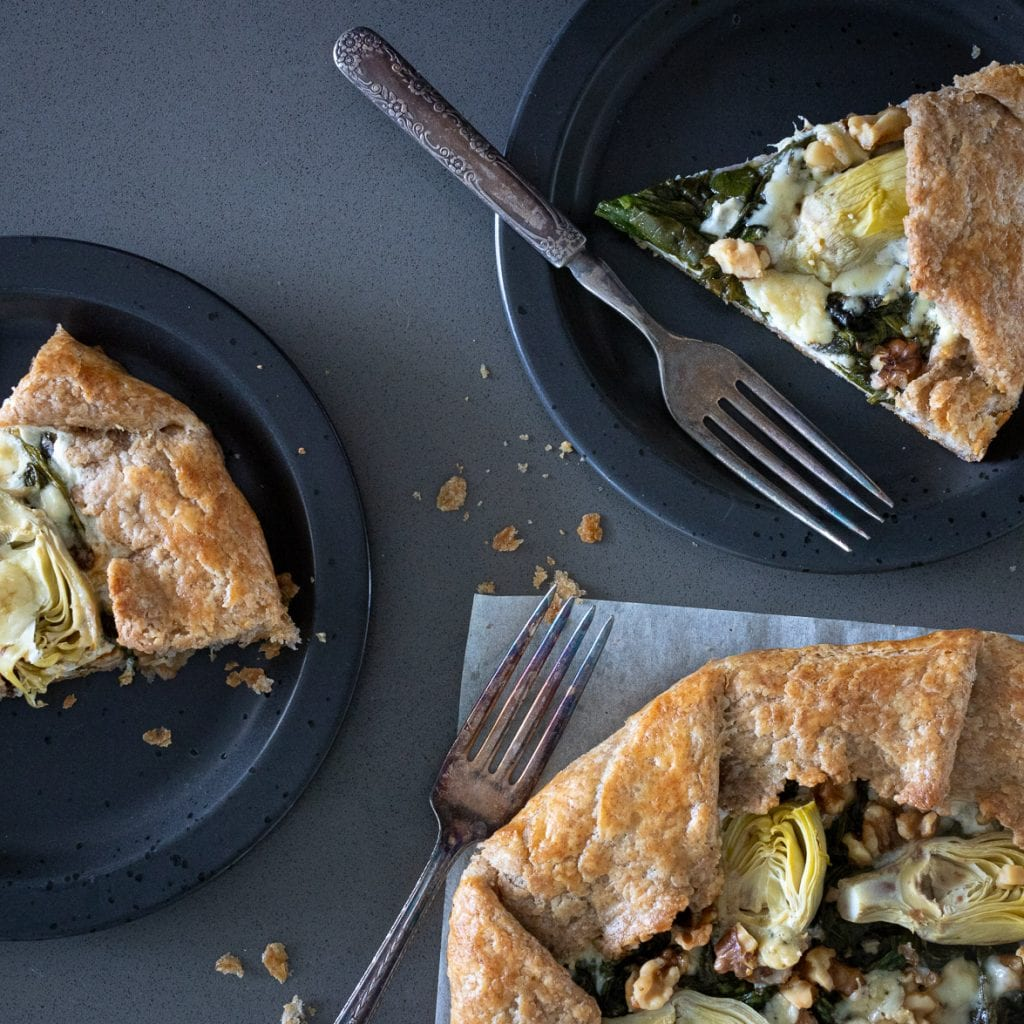 Simple Artichoke and Spinach Galette
