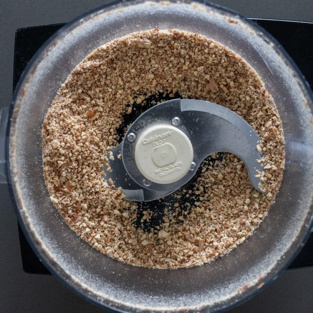 almonds blended for almond tart dough