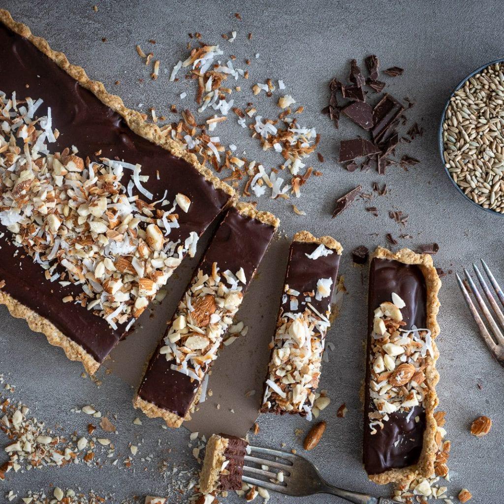 Perfect Dark Chocolate Almond Tart