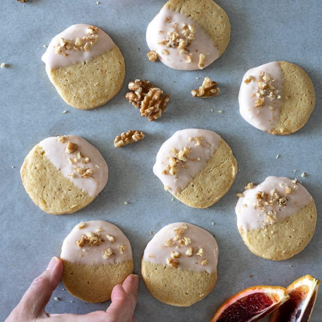 Blood Orange Shortbread Cookies