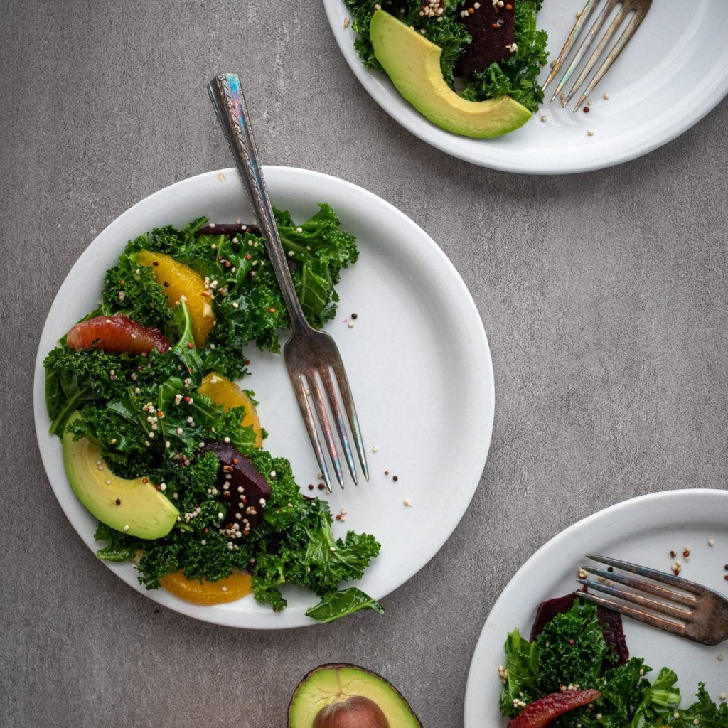 Sprouted Quinoa And Beet Salad