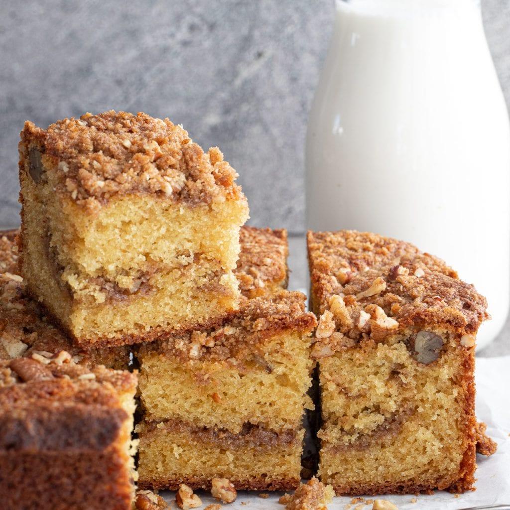 Best Cinnamon Pecan Coffee Cake