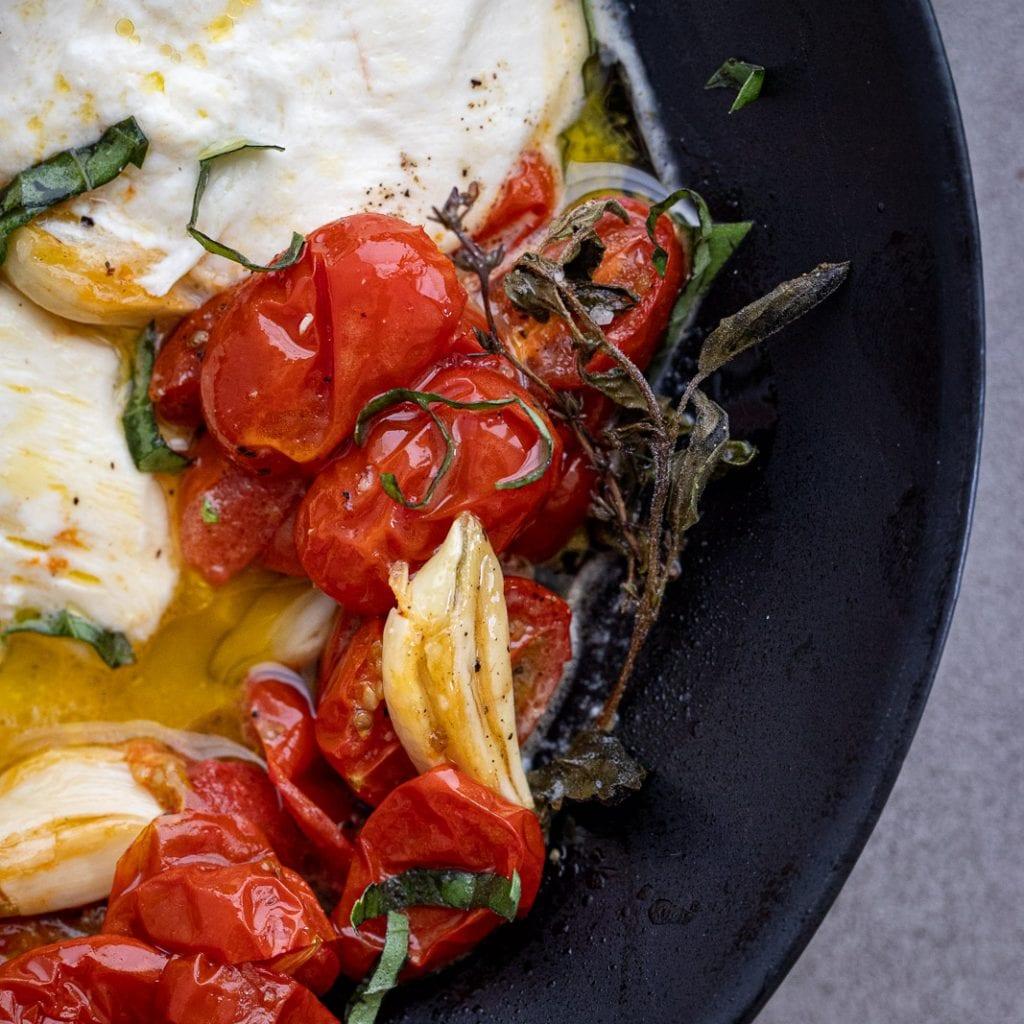 Simple Roasted Tomato Caprese