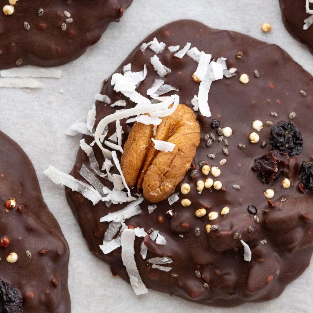 Easy Superfood Dark Chocolate Disks