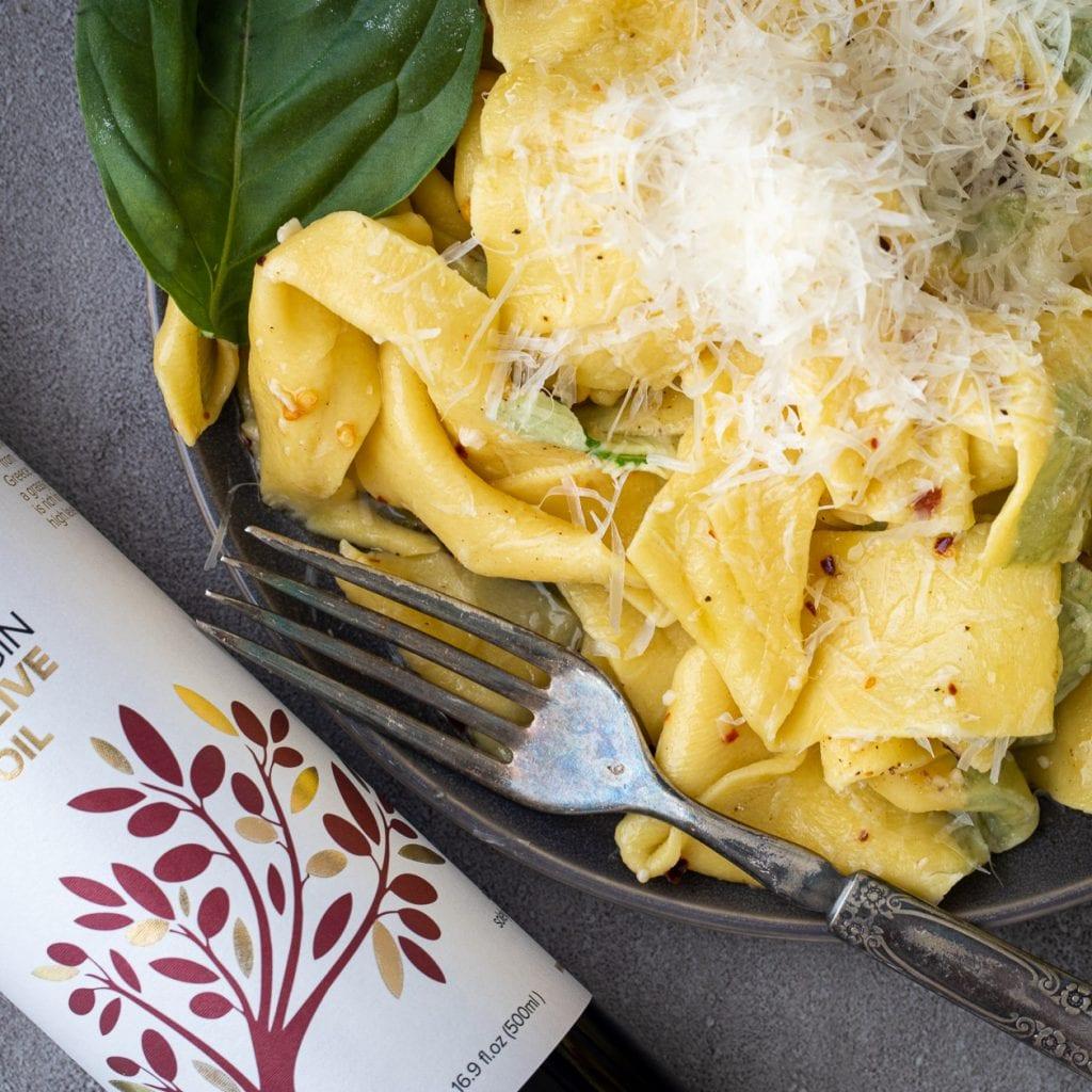 Homemade Laminated Oregano Pasta