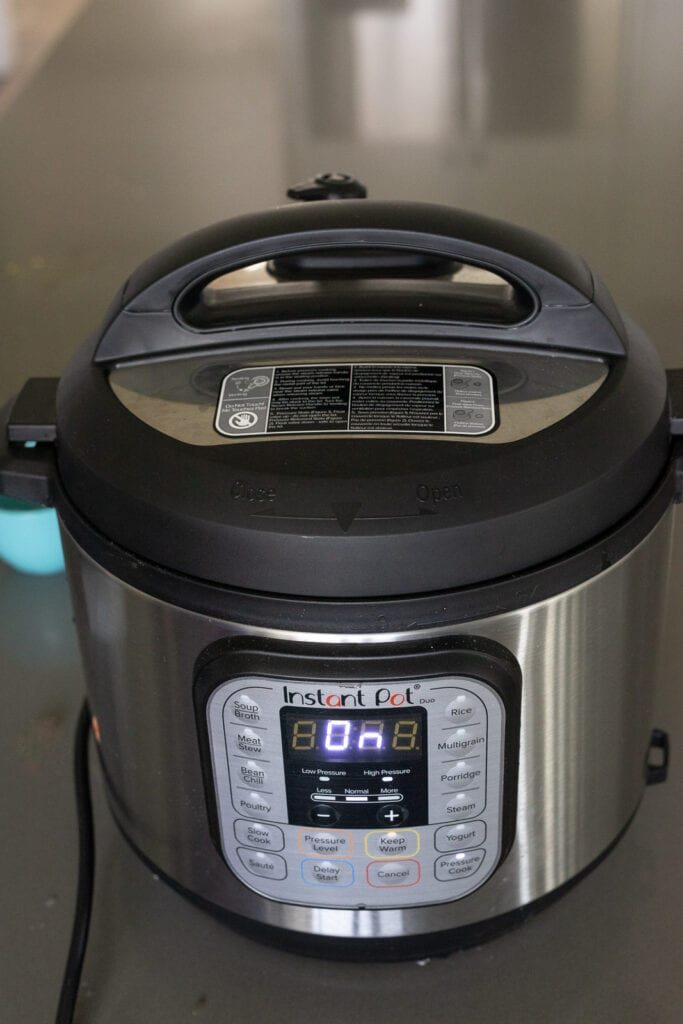 einkorn cooking in an instant pot