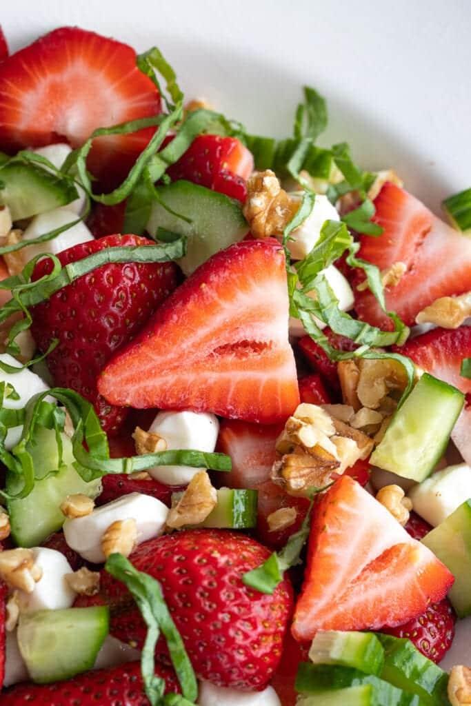 Simple Strawberry Basil Salad