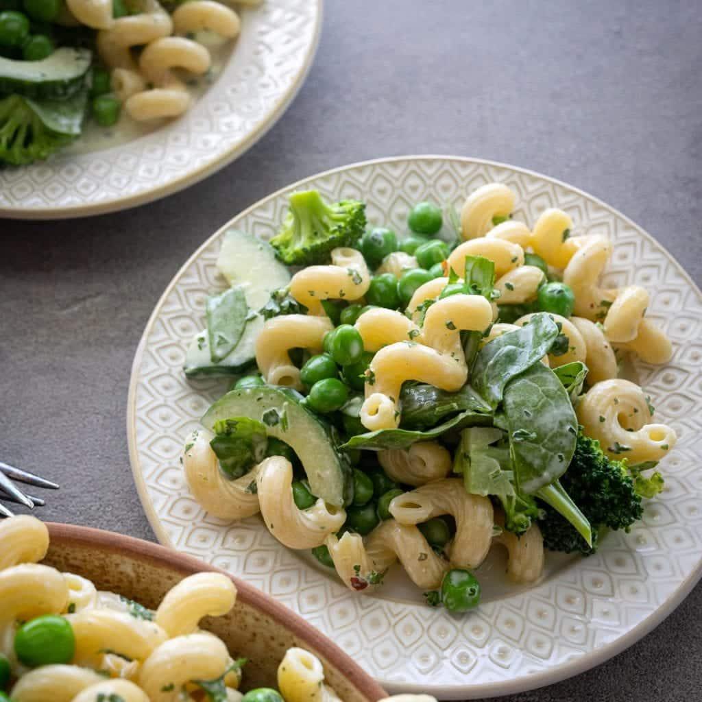 Simple Green Goddess Pasta Salad