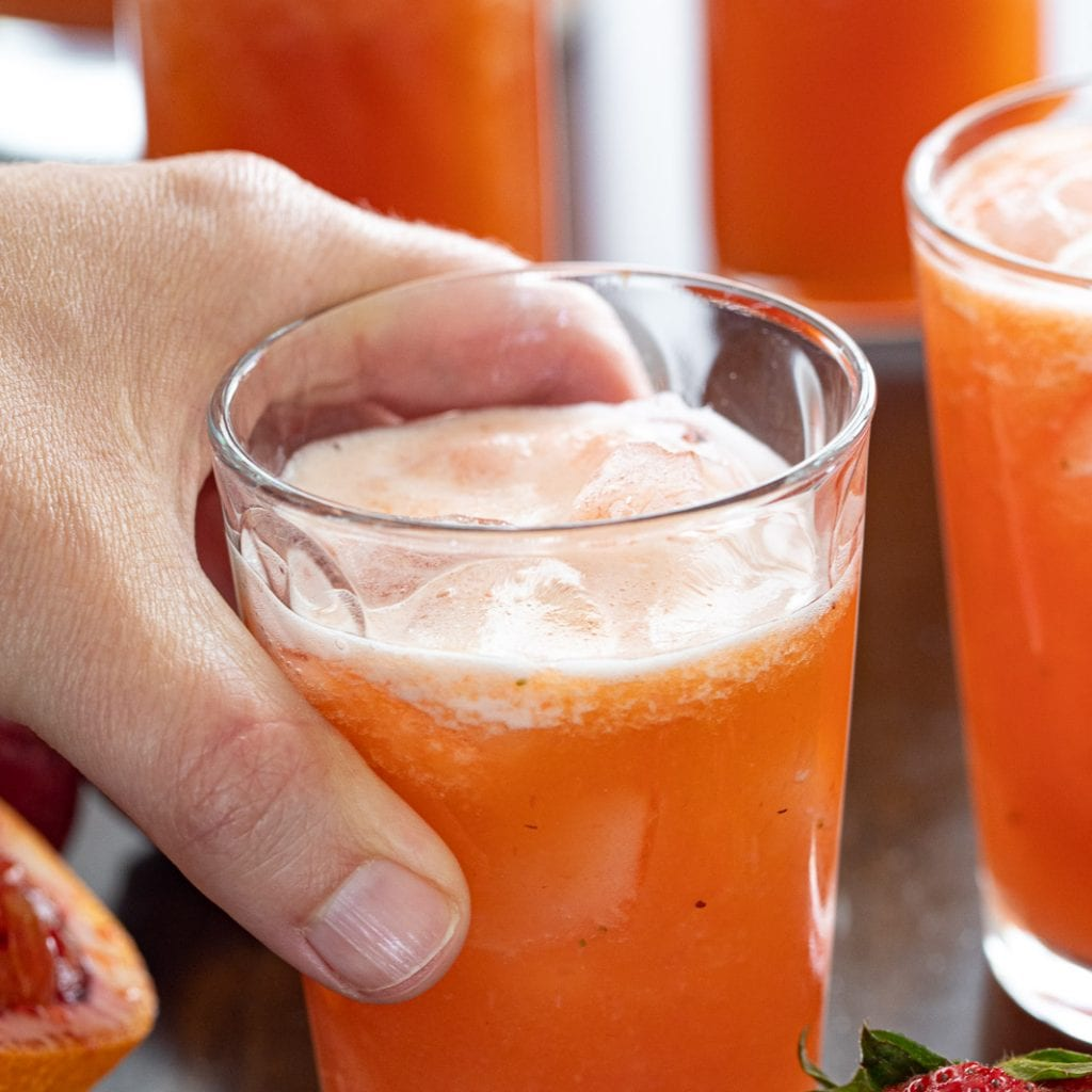 cooling Strawberry Pineapple Agua Fresca