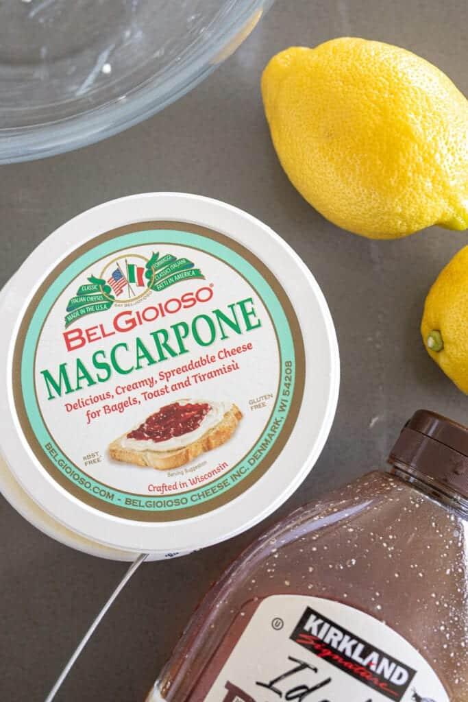 ingredients for mascarpone dip