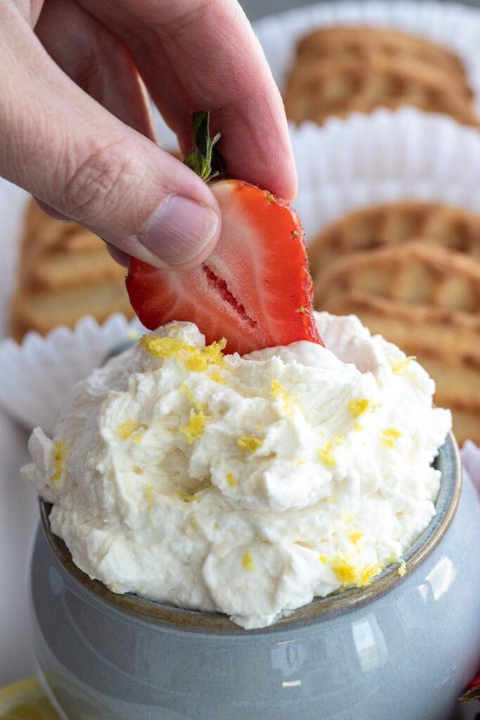 Creamy Lemon Mascarpone Fruit Dip