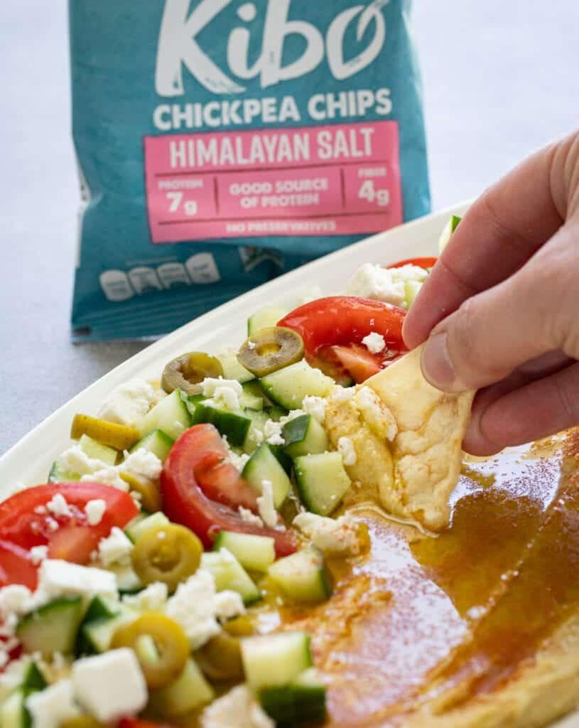 Healthy Loaded Mediterranean Hummus Dip