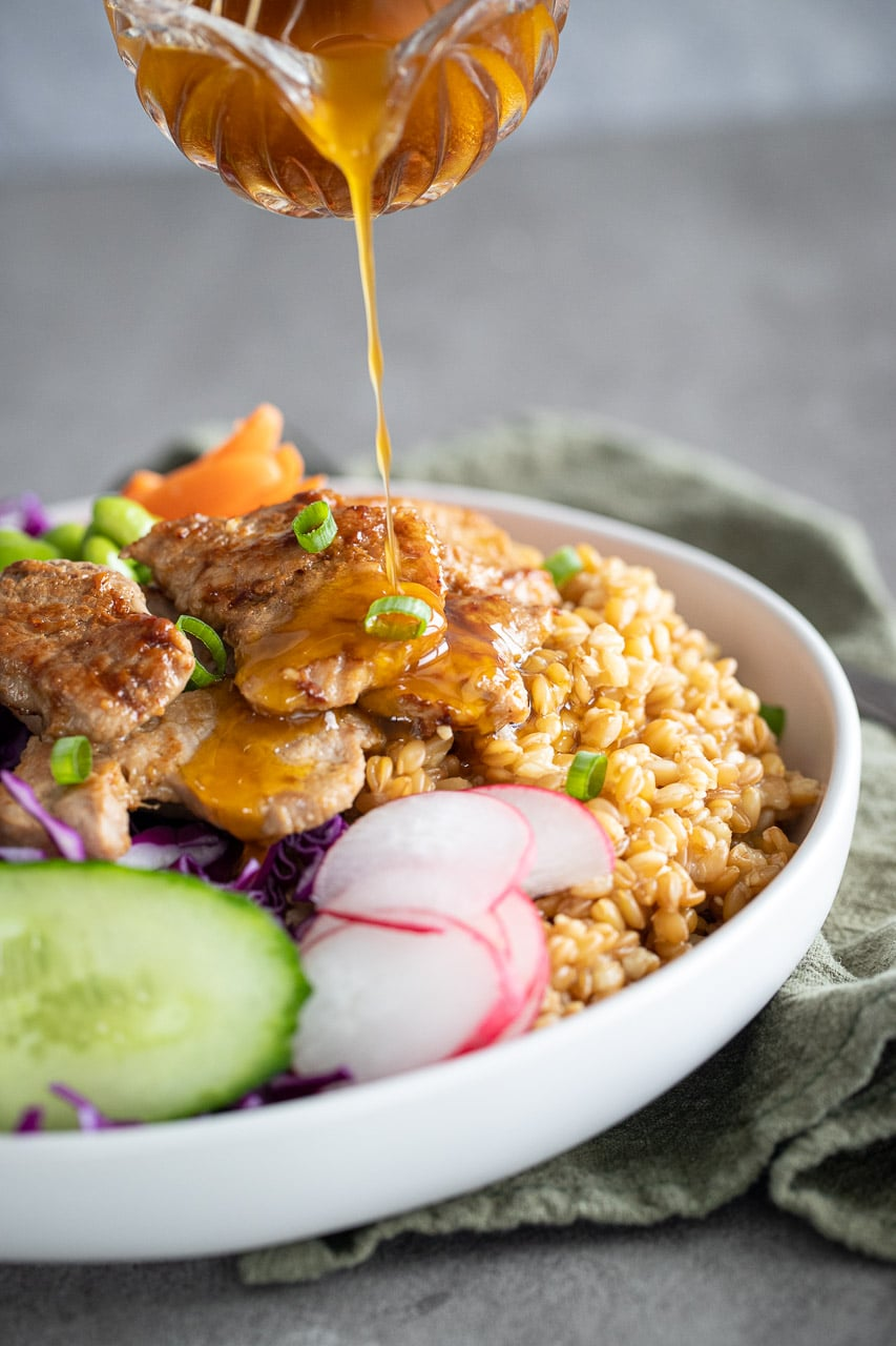 Healthy Pork Tenderloin Buddha Bowl
