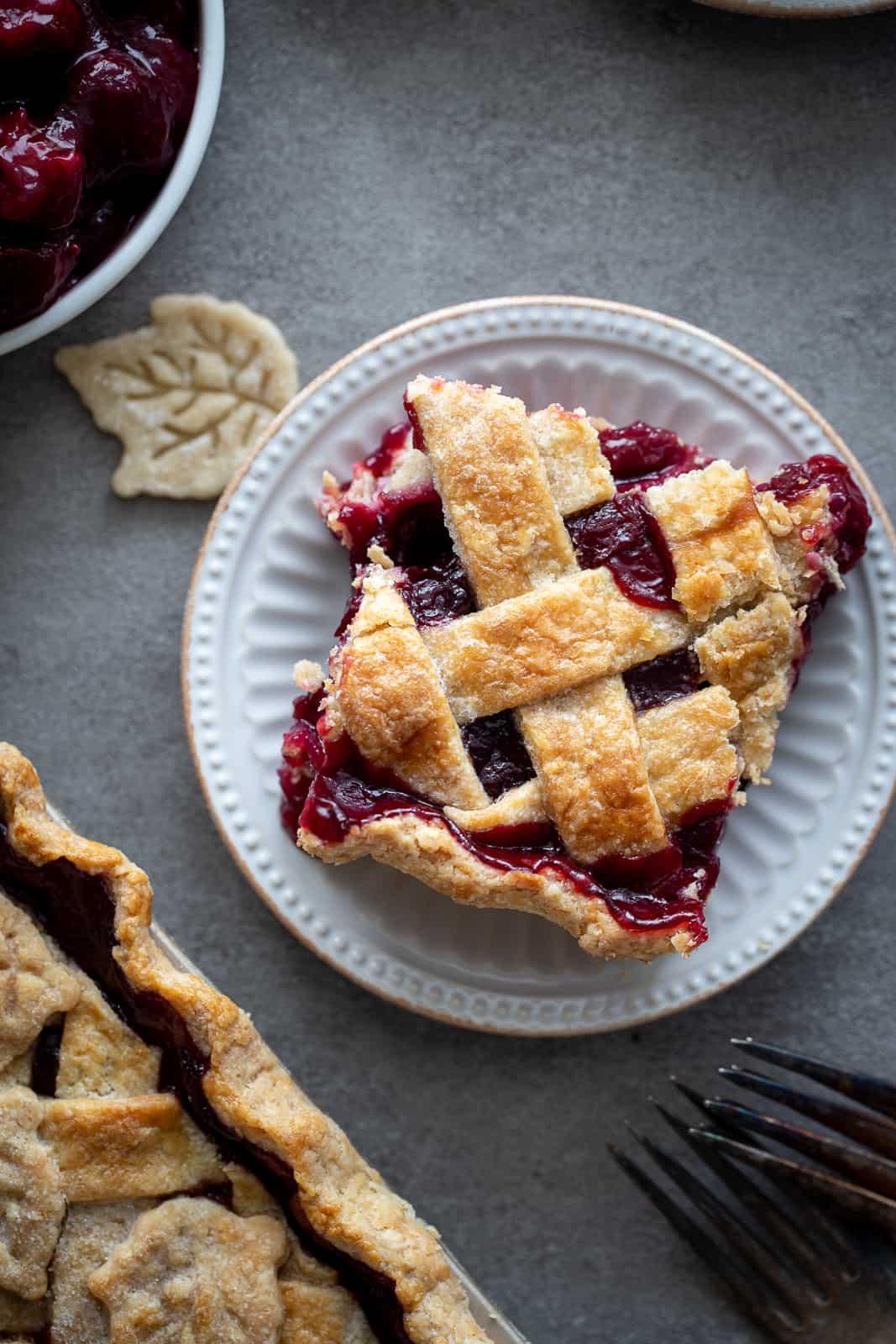 Beautiful Cherry Slab Pie