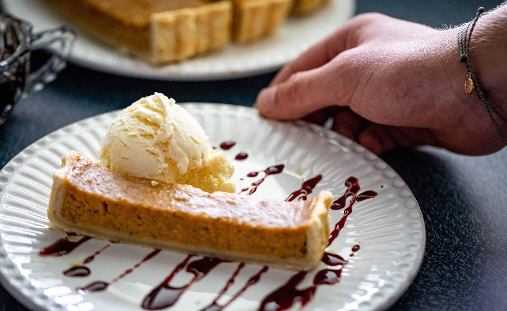 Maple Pumpkin Pie With Pomegranate Molasses