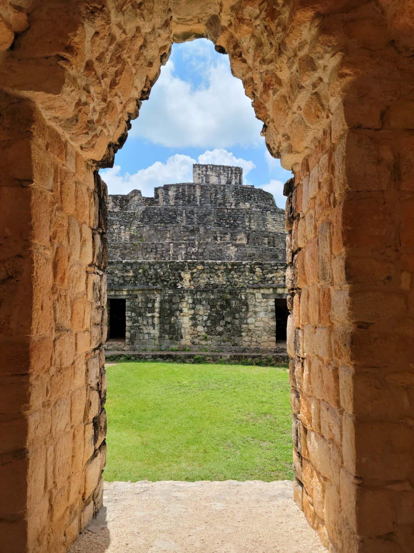 view from doorway in Ek Balam