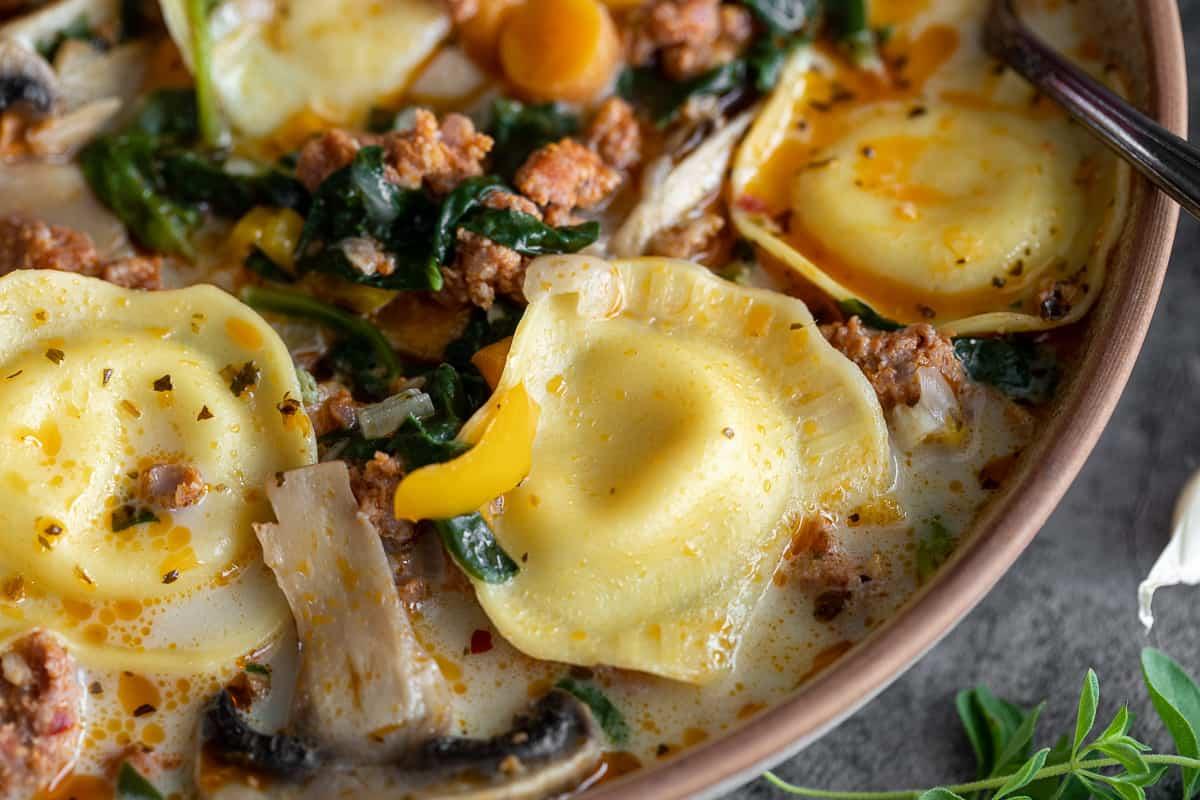 Italian Sausage and Ravioli Soup