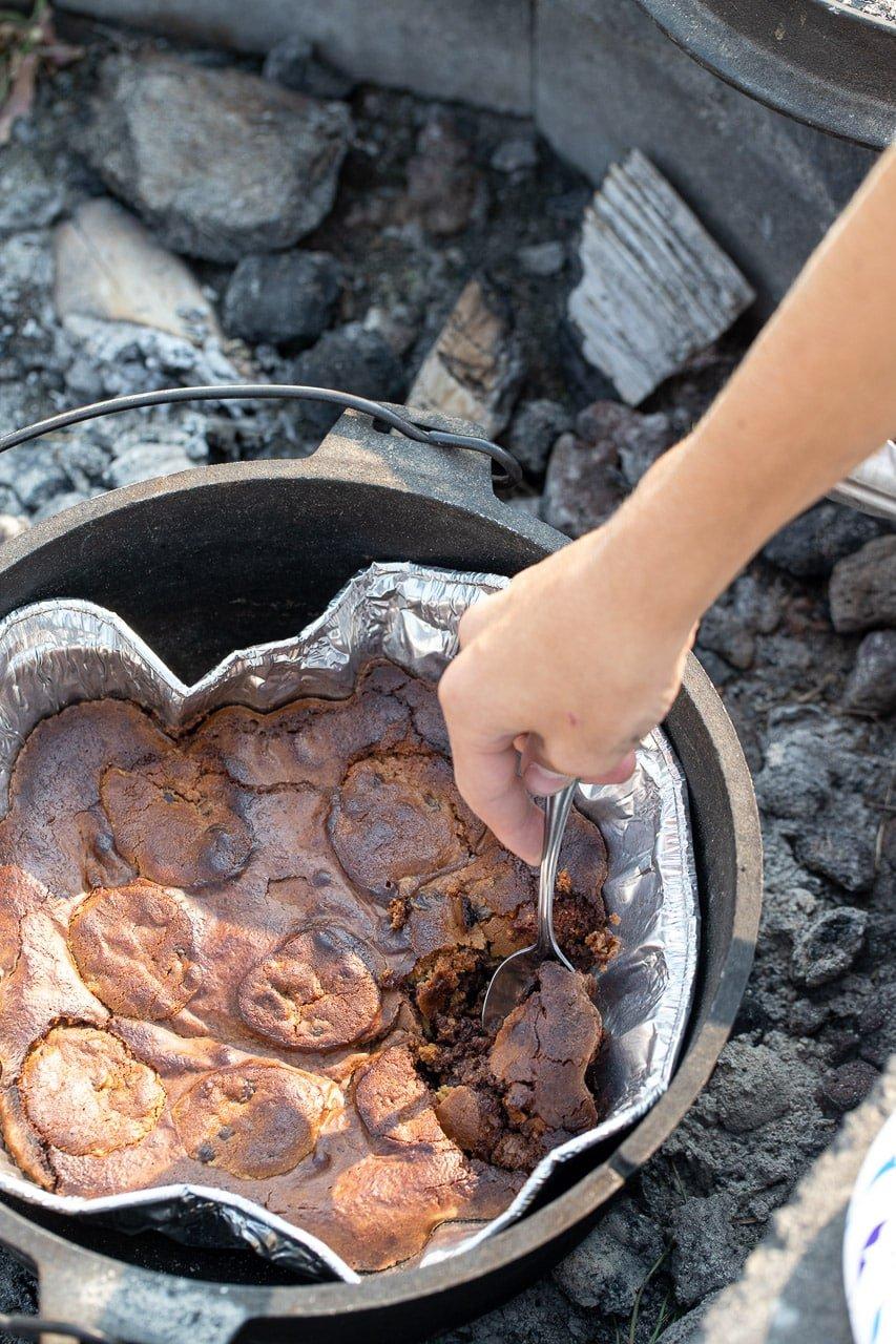 dutch oven brookie