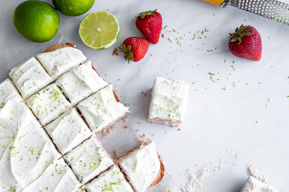 Roasted Strawberries With Lime Buttercream