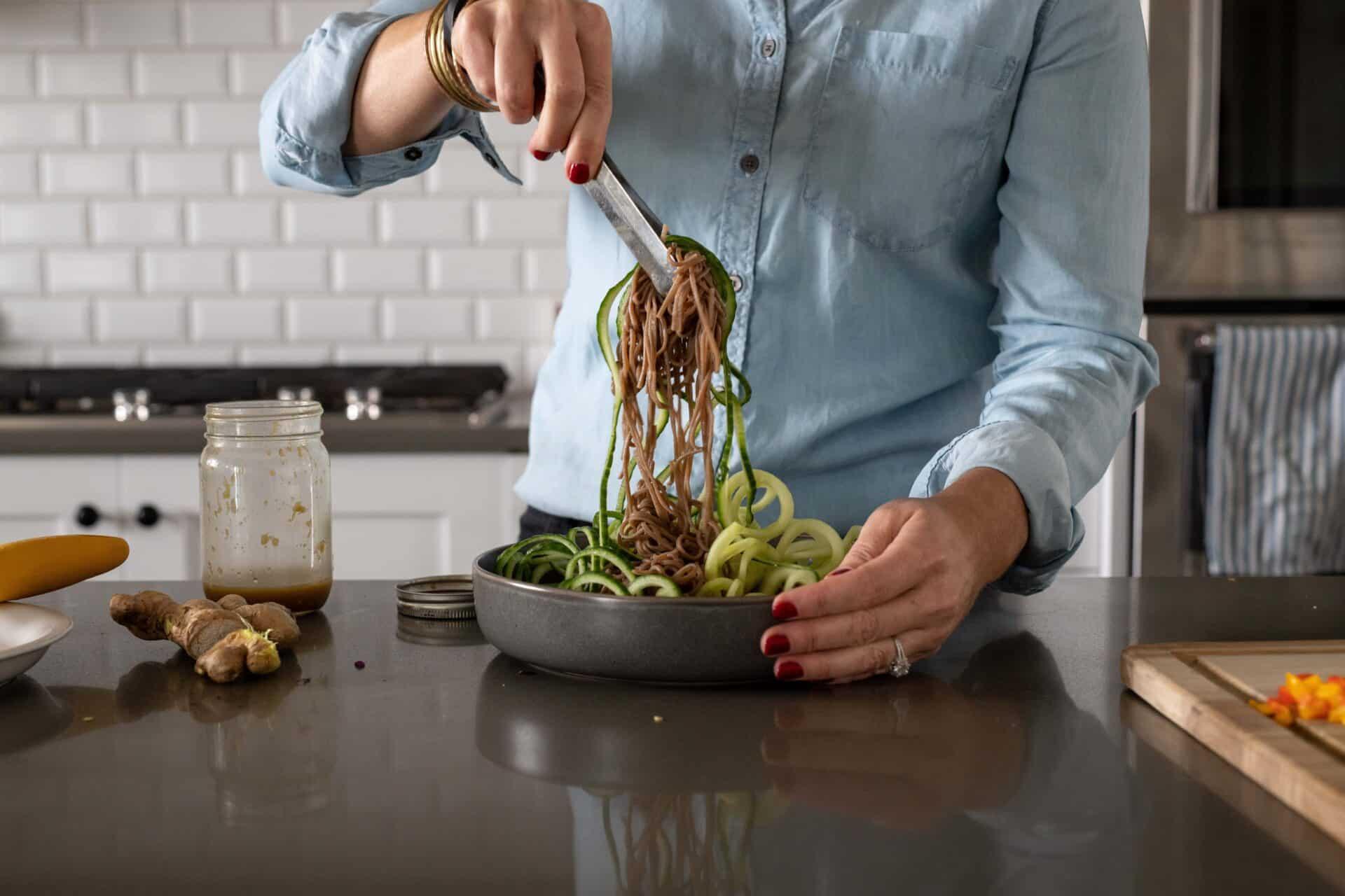Soba Noodle Salad with Fresh Ginger Dressing