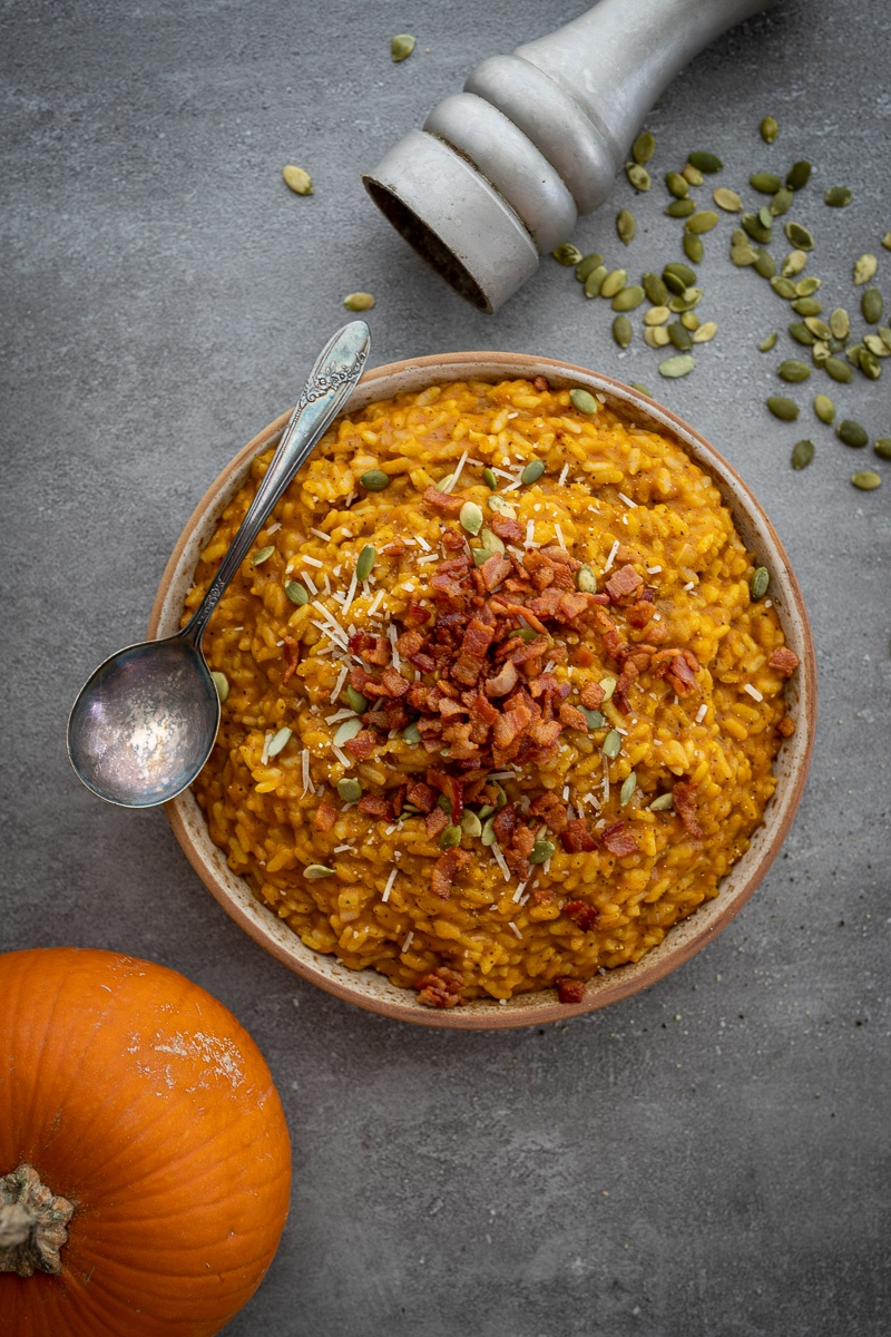 Instant Pot Pumpkin Risotto With Bacon