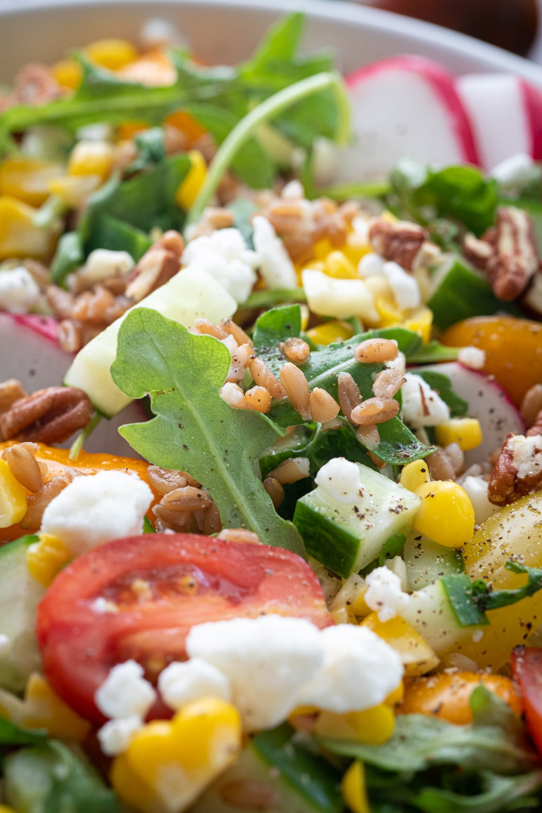 Ancient grain and vegetable salad.