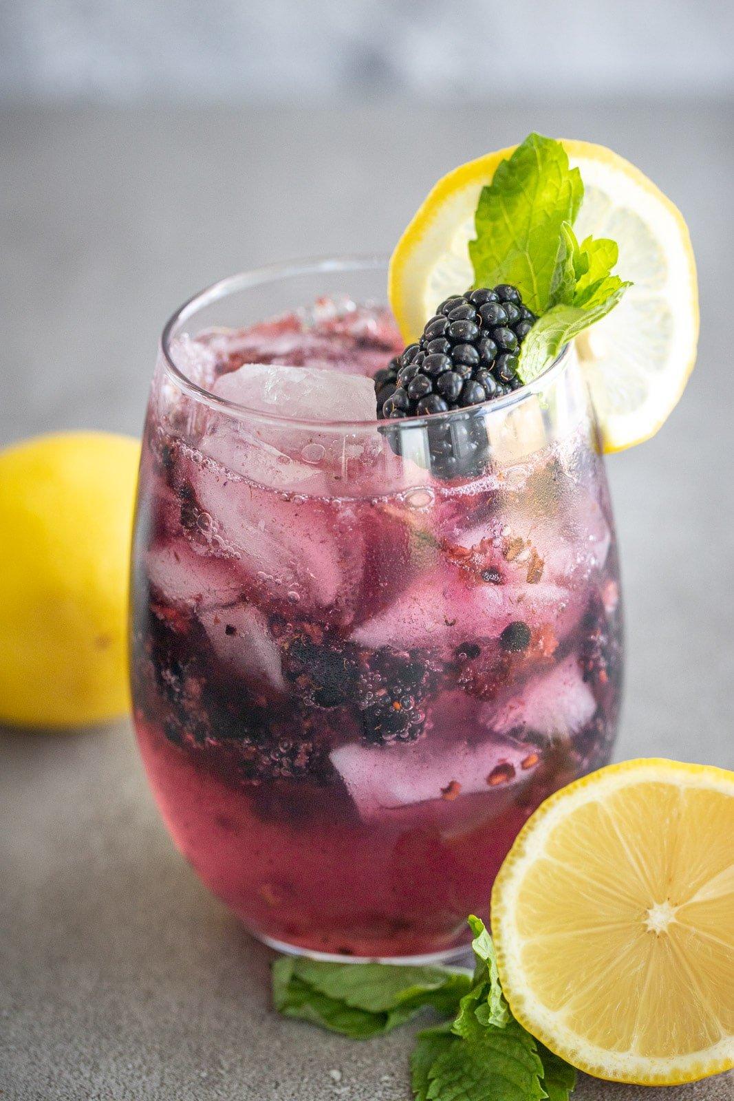 Non-alcoholic Blackberry Mojito.