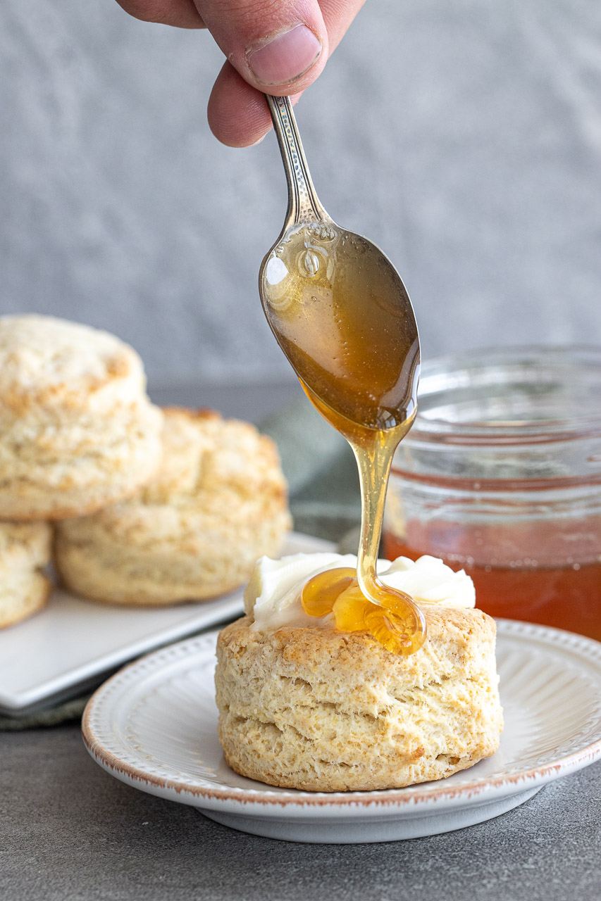 honey drizzle over buttermilk biscuits