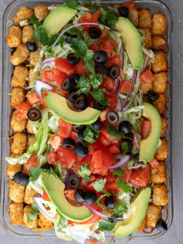 Mexican tater tot casserole.