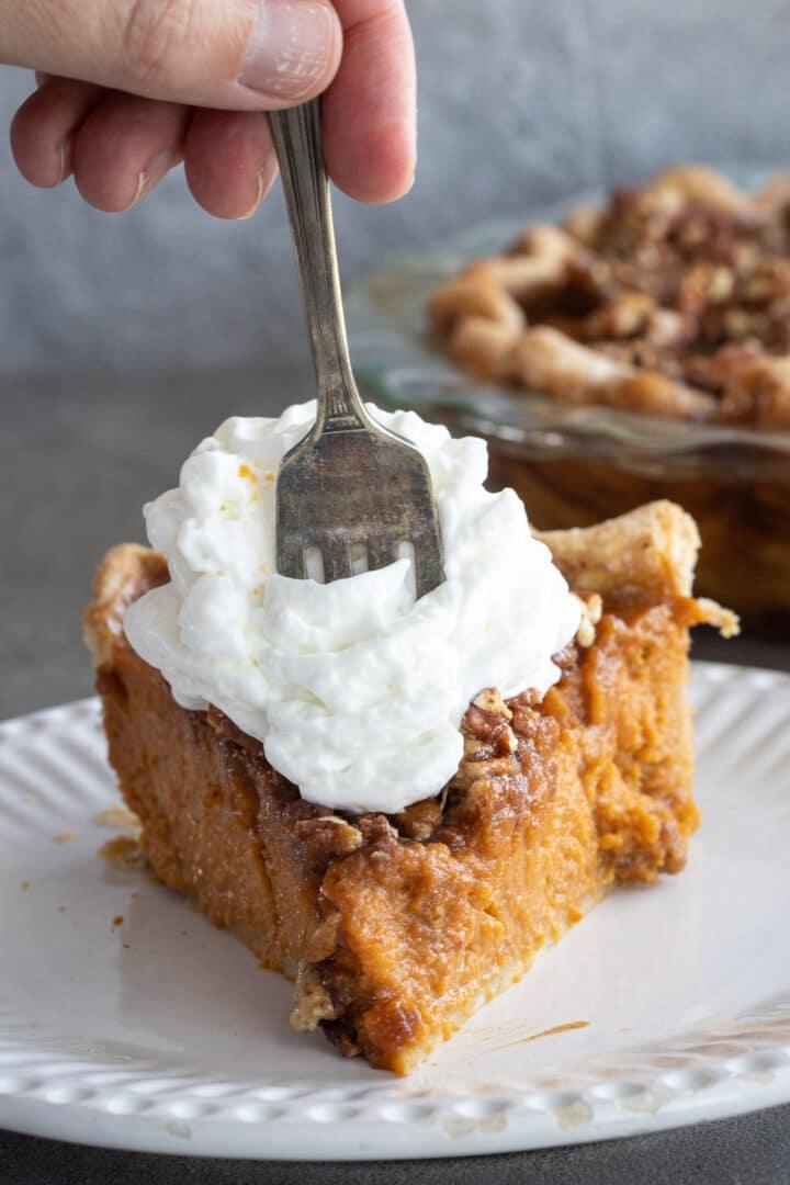 Praline pumpkin pie.